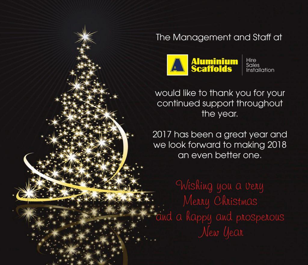 Wishing you a Merry Christmas & Happy New Year - Aluminium Scaffolds - 2017